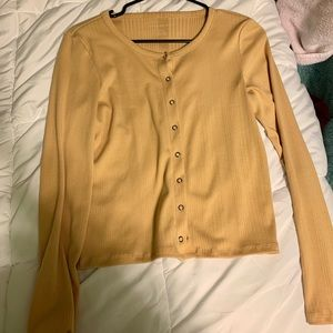 mustard color yellow button up shirt